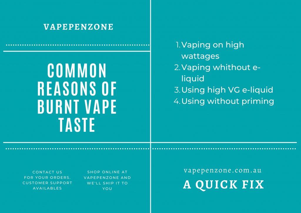 What Causes Burnt Vape Taste & A Quick Fix
