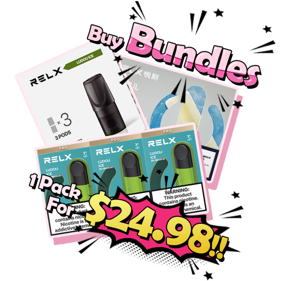 RELX Pod Bundle - Down To $24.98 Per Pack