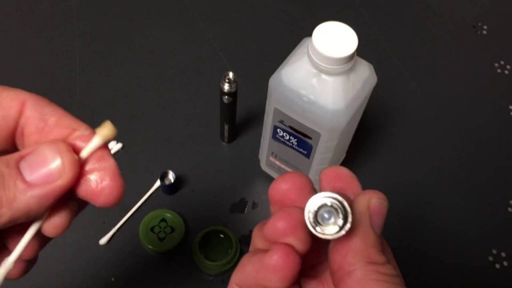 how to clean vape coil with alcohol