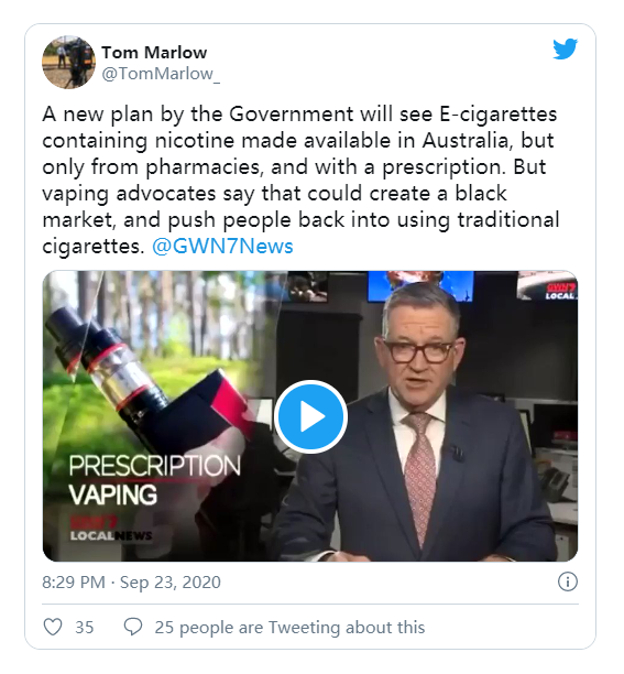 Keep Vaping In Australia: Comment On The TGA Consultation By Nov. 6, 2020 | Vapepenzone