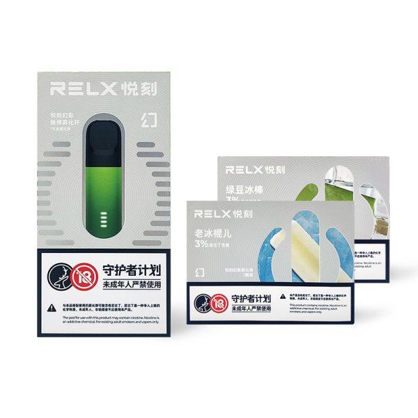 RELX Phantom Starter Kit + Pods (2 Packs)   VapePenZone